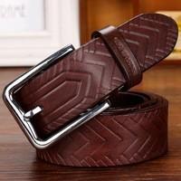 Newest Designer Wide Genuine Leather Belts For Men.