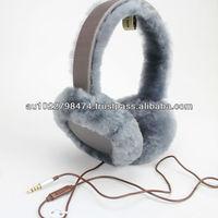 Amazing 100% Australia Sheepskin Lambskin Kangroo Ugg Earmuff headphone inside (Factory Outlet)