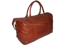 Classic Vintage Brown Genuine Leather Travel Bag / Mens Genuine Leather Fashion Leather Travel Bag/ Duffel Bag
