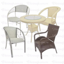 Rattan table handmade from 100% rattan Vietnam high quality multi design multi color rattan table and chair