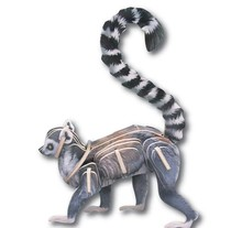 3D RING TAIL LEMUR WOOD PUZZLE