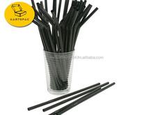 Flexible Black Straw 6 mm