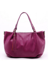 Versatile Solid Color Leather Handbag For Women