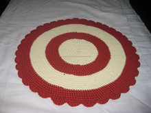 Sun flowers red line handmade embroidery table mat, lovely cloth floor mat for houseware, cheap price for exporting