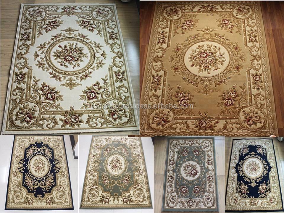 Machine made pure silk Indian home entrance carpets.JPG