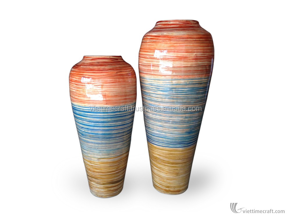 Home decor Beautiful ceramic vases made in Vietnam hot