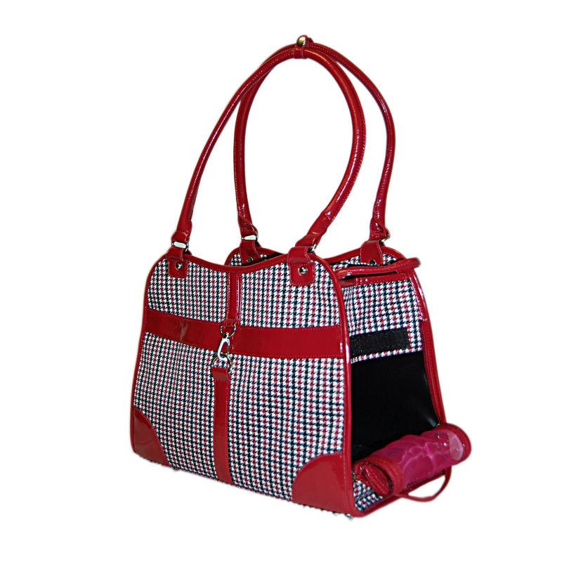 Dog Designer Houndstooth Bag Pet Travel Carrier