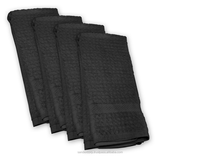 pure cotton white and black dish towels