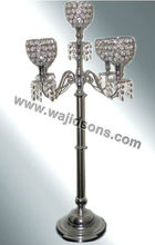Crystal Candelabra For Sale, Hanging crystal aluminium Candelabra in mirror polish, Crystal Candle Holder ,Candelabra