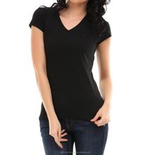 Black color sexy custom t-shirt for women