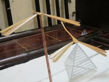 bambú natural libélula, equilibrio libélula& diseño agradable en la base, origen vietnam