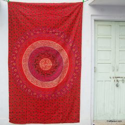 Mandala Bedspread Six Colors Red Hippie Bedding Bohemian Cotton Beach Throws Tapestry Wall Hanging Curtains Table Cloth CJARY-17