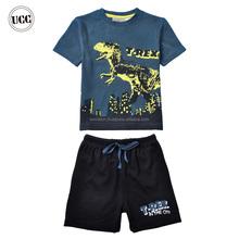 buona qualità del marchio per i ragazzi dinosauro natale pigiama di cotone modello