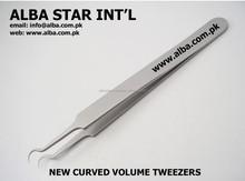 Eyelash Extensions New Curved Tweezers for 3D 6D Volume Lash Technique