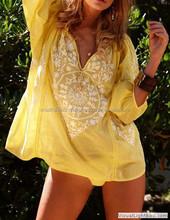 Casual Dresses / yellow tunic / designer tops