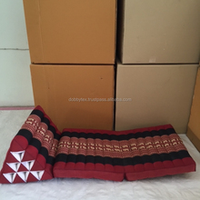 Thai triângulo travesseiro 2 vezes 10 furos / Mhorn Sarm liam tradicional Red Elephant kapok 100%
