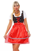 New Apron Drindl Custom Design Trachten Oktoberfest Bavarian Traditional Dirndl For Women