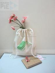 Environmental friendly cotton drawstring shoes bag