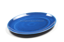 RTPO010 Blue Full color Print Oval Melamine Plate (different colors) 330mm x 250mm