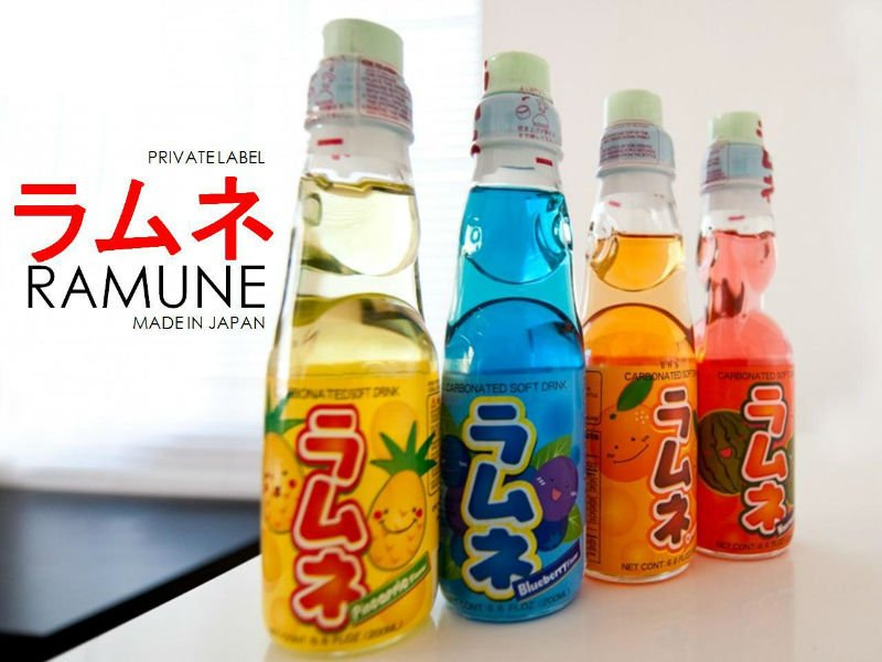 how to open ramune drink