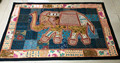 hecho a mano de color multi vintage elefante indio corredor tapiz de mesa