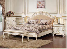 Ekaterina I bed bench, white with gold, 1200*510*508