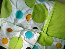 bedsheet green colour cotton printed bedsheet for baby and children