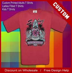 dark cherry red chest printing tee shirts
