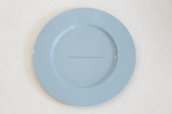 Vietnam decorative tray blue pastel color round tray home decoration tray serving fruit
