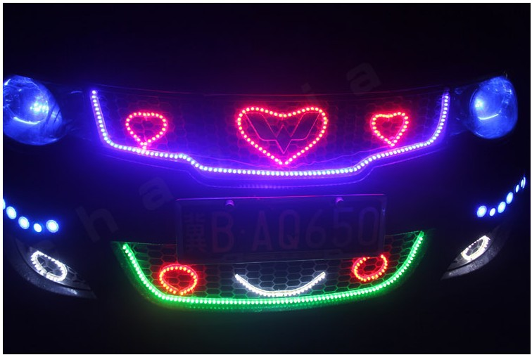 Smd led strip 7020 christmas led strip light for home decoration free shipping car led strip motorcycle bike decoration mozeypictures Images