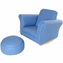 Kids Rocking Armchair with Foot Stool