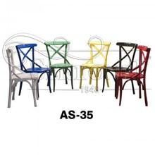 Colourful Rental Wedding Cross Back Chair