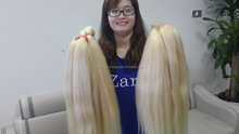 Blonde Remy Weave Blonde Straight Hair Extensions - Length from 6 to 32 inches
