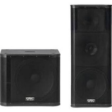 Promo sales for QSC KW153 - KW181 PA System Set of (2) QSC KW153 and (2) QSC KW181 Speakers