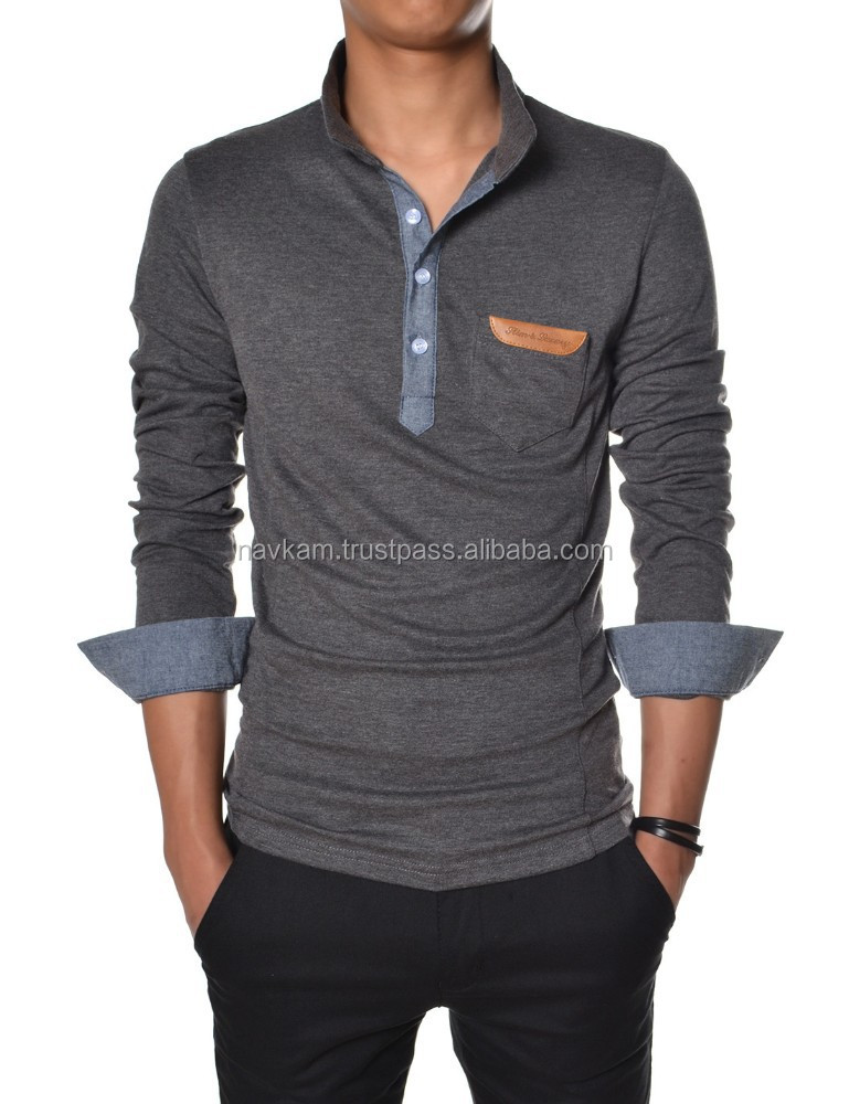 Fashion design wholesale custom long sleeve t shirt high for Design cheap t shirts
