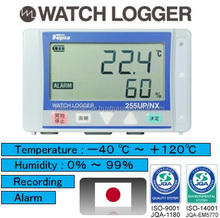 High-grade and multi-functional thermometer with alarm and automatic recording for cold storage racking system, made in Japan