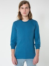 American Apparel Unisex Organic Fine Jersey Long Sleeve Tee - made from 100% organic fine jersey cotton and comes with your logo