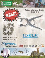 tattoo plier for rabbits farming farming equipment for identification DETECH Industries
