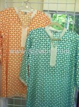 Algodón túnicas kurtis / kurtas mejor indio de la pantalla imprime túnicas algodón túnica Blusa algodon vestidosa