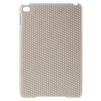 LOVELY Dots Leather Coated Plastic Case Shell for iPad mini 4 - Light Pink