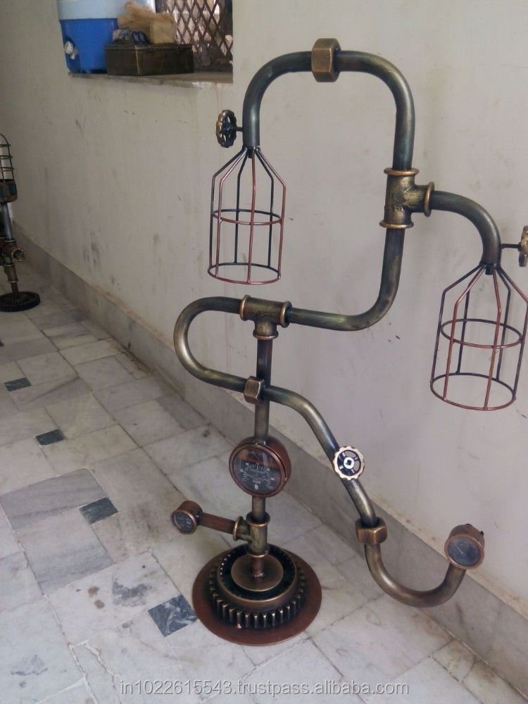 Antique Industrial Style Furniture Lamp Vintage Table