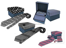 G7501 Neck Tie Set-3 in 1 ( promotional gift, corporate gift, premium gift, souvenir ) Hat