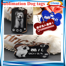 sublimation blank double size printable sublimation dog tags,custom cheap pet id tag