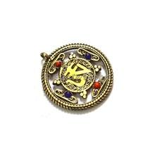 Wholesale of Brass Pendants : Tibetan Golden Brass Om Amulet Pendants