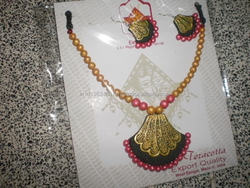 eco friendly fashion colourful terracotta jewellery costume jewellery made of clay art jewellery special set gb509812