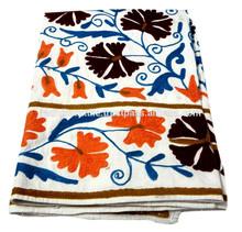 RTHBC-D11 Handmade Royal Prismatic Modernistic Floral Uzbekistan Suzani Embroidery Designs Manufacturers