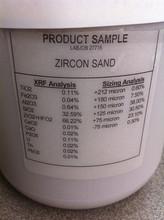 High purity zircon sand 66 min