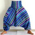 pantalones de rayas rojas al por mayor de algodón de la India Harem pantalones Baggy Genie Alibaba Pantalones de Aladdin pantalo