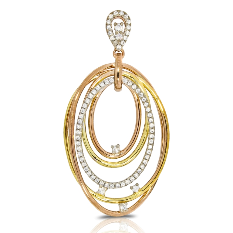 Diamond pendant italian design white gold yellow gold pink gold rose ap10917g aloadofball Image collections