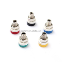 New Arrvial!!! 5 Colors 2mm Brass Binding Post Banana Socket Jack Plug For Stereo Speaker Excellent Quality